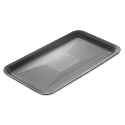 "Genpak 10SBK Black Foam Meat Tray, 10 1/4"" x 5 3/4"" x 1/2"""