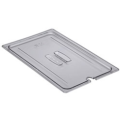 Cambro Food Pan Lid 1/1 Camwear® Notched Cover With Handle Clear