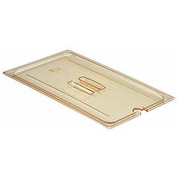 Cambro Food Pan Lid 1/1 H-Pan® Handle Notched Amber