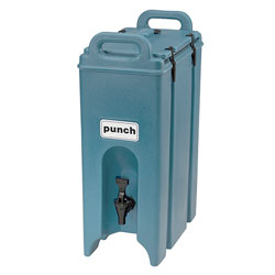 Cambro Camtainer® 5 Gallon Capacity Slate Blue