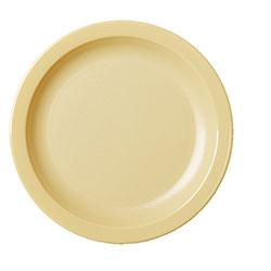Cambro Dinnerware Plate Narrow Rim 6 1/2 in Beige