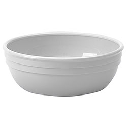 "Cambro 5"" White Nappie Bowl, 12.5 Ounce"