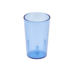 Cambro 8 Oz Plastic Tumblers, Blue, Pack of 72
