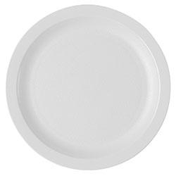 Cambro Dinnerware Plate Narrow Rim 8 1/4 in White