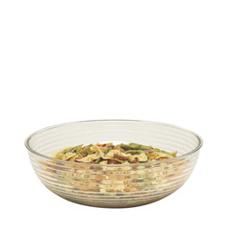"Cambro 15"" Clear Ribbed Salad Bowl"