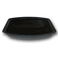 "Cambro Black Ribbed Salad Bowl, 10"" x 14"""