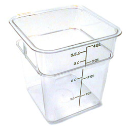 Cambro Clear Square Container, 4 Quart