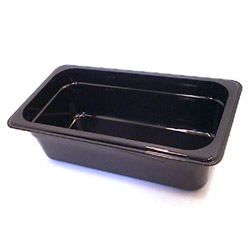 Cambro Plastic Food Pan, 1/3 Size, Black