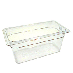 Cambro Plastic Food Pan, 1/3 Size, Clear