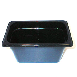 "Cambro Fourth Pan Black 6"" Deep"