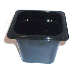 Cambro Plastic Food Pan, 1/6 Size, Black