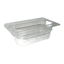 "Cambro Ninth Pan Clear 2.5"" Deep"