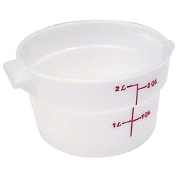 Cambro Round Poly Container, 2 Quart