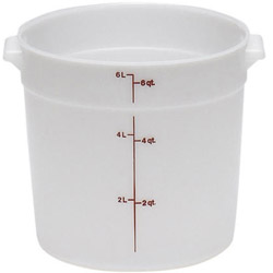 Cambro Round Poly Container, 6 Quart