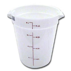 Cambro Round Poly Container, 8 Quart