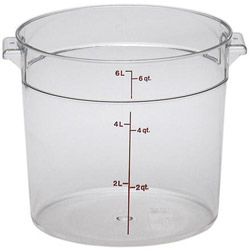 Cambro Clear Round Container, 6 Quart