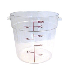 Cambro Clear Round Container, 18 Quart