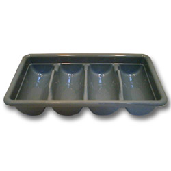Cambro Gray 4 Compartment Cutlery Box