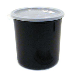 Cambro Black Crock with Lid, 1.2 Quart