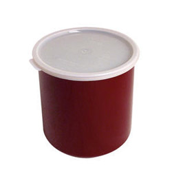 Cambro 2.7 Qt Reddish Brown Crock With Lid