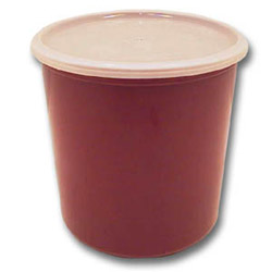 Cambro Cranberry Crock with Lid, 2.7 Quart