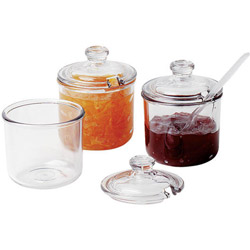 Cambro Condiment Jar with Lid, 8 Ounce