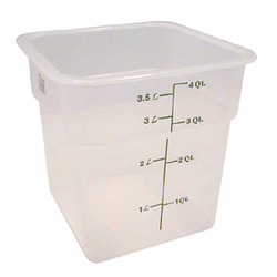 Cambro Translucent Square Container, 4 Quart