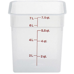 Cambro Translucent Square Container, 8 Quart