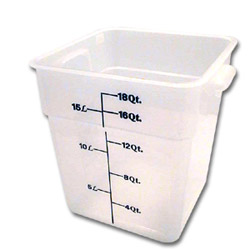 Cambro Translucent Square Container, 18 Quart