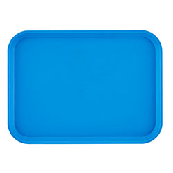 "Cambro 1014FF168 Blue Fast Food Tray, 10"" x 14"""