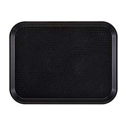 "Cambro 1014FF110 Black Fast Food Tray, 10"" x 14"""
