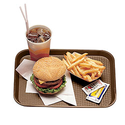 "Cambro 1014FF167 Brown Fast Food Tray, 10"" x 14"""