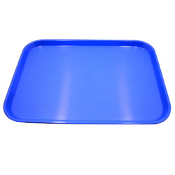 "Cambro 1216FF168 Blue Fast Food Tray, 12"" x 16"""