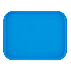 "Cambro 1418FF168 Blue Fast Food Tray, 14"" x 18"""