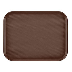 "Cambro 1418FF167 Brown Fast Food Tray, 14"" x 18"""