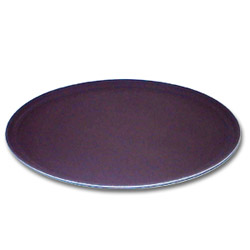 "Cambro 2700CT138 Tan Camtread Oval Tray, 22"" x 27"""