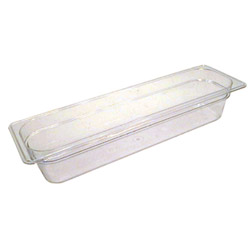 "Cambro Half Pan Clear Long 4""Dp"