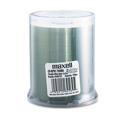 Maxell 100 x CD-R - 700 MB (80min) 48X - White - Printable Surface - Spindle - Storage Media