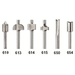Dremel 6 Piece Router Bit Set