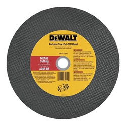 "Dewalt Tools 14"" x 1/8"" x 1"" Metal Portable Saw Cut Off Wheel"