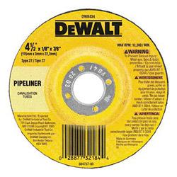 "Dewalt Tools 4-1/2"" x 1/8"" x 5/8"" -11 Pipeliner Cutting / Grinding"