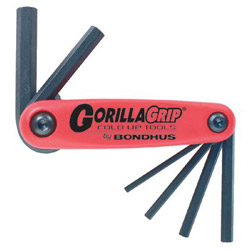 Bondhus 2 mm -8 mm Gorilla Grip Foldup Tool Set