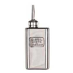 Bauscher Hepp Luigi Bormioli Precious Glass 8.5 oz Vinegar Bottle, Mirror Finish and Silicone / Stainless Steel Pourer