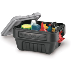 Rubbermaid 24 Gallon Black Storage ActionPacker Container