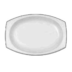 Dart Container 11PRWC White Unlaminated Foam Oval Platters, 11""