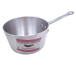 The Vollrath Company 2 3/4 Quart Aluminum Tapered Sauce Pans with Pleated Handle