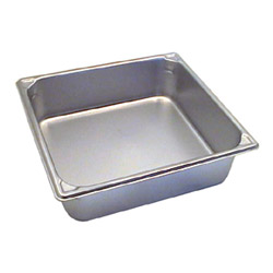 "The Vollrath Company 4"" Deep Two Thirds Size Super Pan II Stainless Steel Steam Table Pans"