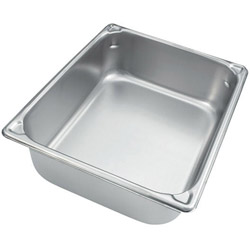 "The Vollrath Company 4"" Deep Half Size Super Pan II Stainless Steel Steam Table Pans"