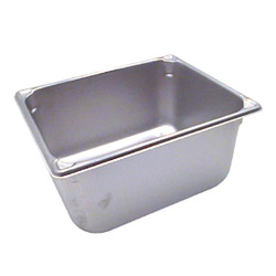 "The Vollrath Company 6"" Deep Half Size Super Pan II Stainless Steel Steam Table Pans"
