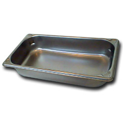 "The Vollrath Company 2 1/2"" Deep One Third Size Super Pan II Stainless Steel Steam Table Pans"
